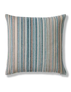 Duck Egg Pinstripe Chenille Cushion Home  Not as teal coloured in reality. Saw this in Solihull. Only £15 too!