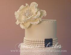 Ashton & Nathan's wedding cake top tier...