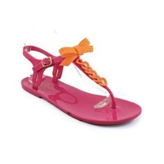 """HP1/20/16Kate Spade NEW Jelly Sandals SZ 8 Super cute Kate Spade New York """"Farren"""" jellies in pink and orange. NEW! kate spade Shoes Sandals"""