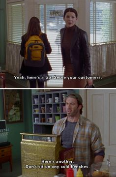 Gilmore Girls - Luke and Lorelai Rory Gilmore, Gilmore Girls Funny, Gilmore Girls Quotes, Luke And Lorelai, Rory And Jess, Best Tv Shows, Movies And Tv Shows, Favorite Tv Shows, Team Logan