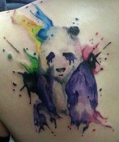 My panda watercolour tattoo