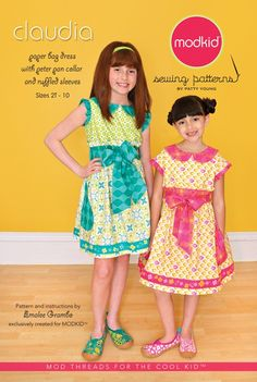 """Claudia"" Boutique Sewing Pattern for Modkid by Patty Young"