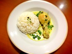 Chicken OPOR with jasmine rice made by df.