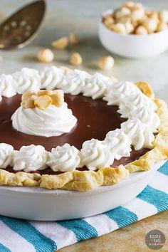 White Chocolate Macadamia Pie - Taste and Tell