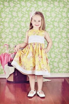Free Party Dress Pattern for a Little Girl