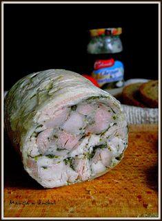 Mancia w kuchni: Baleron białoruski z kurczaka Smoking Meat, Sausage, Pork, Dinner, Vegetables, Pork Roulade, Dining, Sausages, Pigs