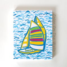 Sailboat Painting - Lilly Pulitzer You Gotta Regatta by ColorOnTheWalls