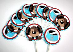 Puppy Cupcake Toppers Set of 12
