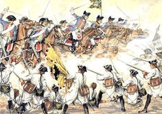 The charge of the Bayreuth Dragoons at the Battle of Hohenfriedberg