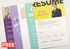 Free Design Data Download Resume Psd Template Free  Free Design