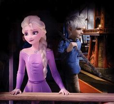 """""""""""So this is where you've been hiding at…."""" // Jelsa AU // Jack Frost startling Elsa when he appeared behind her on her balcony cos she slipped away during her birthday celebrations… """" Jelsa, Dark Jack Frost, Jack Frost And Elsa, Disney Au, Disney And Dreamworks, Cute Disney, Princesa Disney Frozen, Disney Frozen Elsa, Jake Frost"""