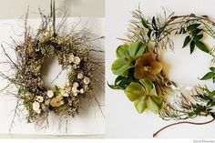 Wild, natural, delicate wreath by Amy Merrick