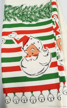 image of Santa and Bells Tablecloth