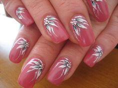 Make an original manicure for Valentine's Day - My Nails Flower Nail Designs, Colorful Nail Designs, Nail Designs Spring, Fingernail Designs, Acrylic Nail Designs, Nail Art Designs, Stylish Nails, Trendy Nails, Cute Nails