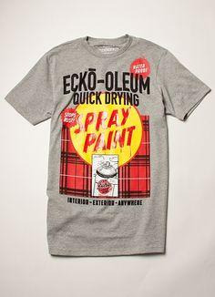 "Ecko Unltd presents ""Ecko-oleum Quick Drying Spray Paint""."