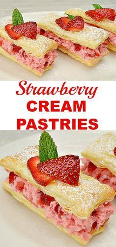 Easiest Strawberry Cream Pastries ever for Valentines Day !