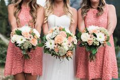 Soft coral wedding f