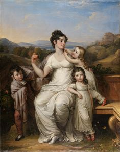 Maria Theresia Josefa von Fries, nee Princess of Hohenlohe-Waldenburg-Schillingsfurst, 1779-1819)  and her Children  (Josef Abel, 1811) 1st wife of Moritz, Graf von Fries. Graf von Fries was a personal friend of Beethoven, and a patron of Schubert.