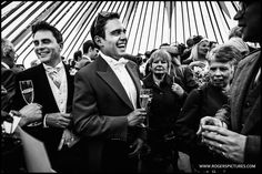 A very busy marquee at this Oxfordshire wedding -
