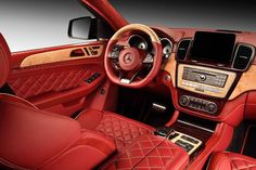 Mercedes GLE Coupe Now Available with a Sharp Red Interior Bugatti Chiron Interior, Top Cars, Red Interiors, Car In The World, Car Ins, Fast Cars, Oeuvre D'art, Super Cars, Vehicles