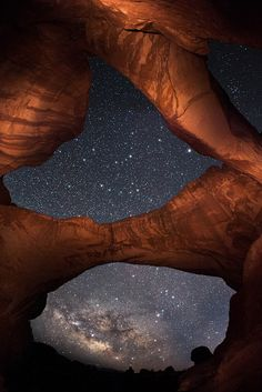 Double Arch Milky Way by David Kingham, via Flickr