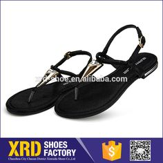 Customized ladies pvc sandals/ladies flat sandals 2016 pvc flat sandals