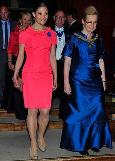 5/18/13       Crown Princess Victoria  attended Allmänna Sångens 50th anniversary  concert at Uppsala University.