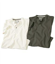 Lot De 2 Tee-Shirts Wood River #atlasformen #avis #discount #livraison #commande #winter