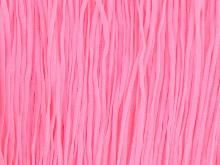 Stretch fringe 30cm flamingo pink
