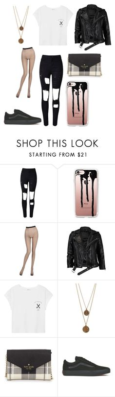 """Street girl"" by cute-but-psycho-xoxo ❤ liked on Polyvore featuring WithChic, Casetify, La Perla, VIPARO, MANGO, Bee Charming, Kate Spade and Vans"