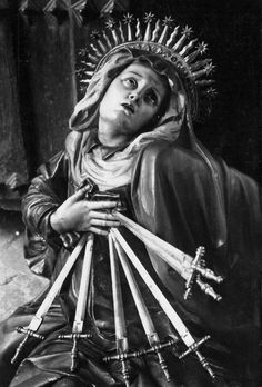 Our Lady of Sorrows, I don't know the artist or true title.