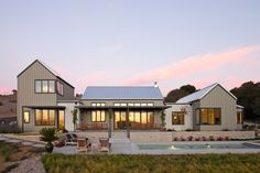 This contemporary farmhouse was designed and built for the ultimate in California indoor|outdoor living. Each side of the house brings incredible views and a choice between protection or exposure to wind and sun. The pool is in full sight of all the living areas, both inside and out. The covered porches transition from full shade …