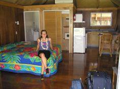 Nuestra habitación del hotel de Aitutaki.