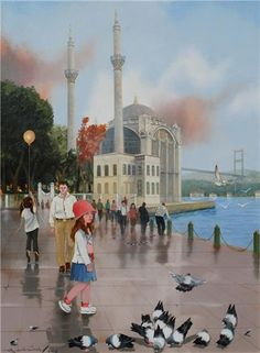FARUK CİMOK.... Faruk Cimok was born in 1956 in Reyhanli-Hatay. After graduating from State Fine Arts Academy in 1979, he attended various solo and mixed exhibitions. Mr. Cimok is currently working as a lecturer at the Mimar Sinan University Faculty of Fine Arts in Istanbul.