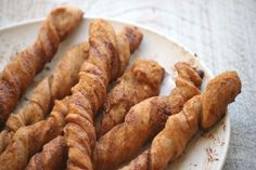 Baked cinnamon twists. :)