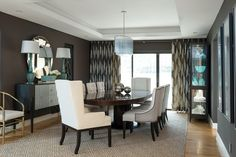 Chic Dining Room by Jeff Mifsud of Interior Classics, Interior Design Atlanta