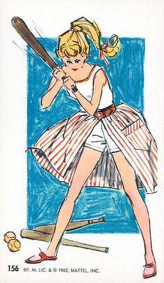 Barbie Jumbo Fashion Trading Card #156, 1962