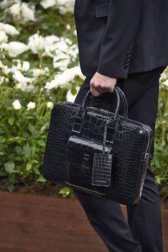 Alligator Briefcase for Men, Luxury Leather Briefcase