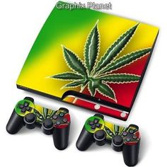 Skin Ps4 Slim Cannabis Bob Marley Limited Edition Decal Cover Playstation 4 Video Game Accessories Faceplates, Decals & Stickers