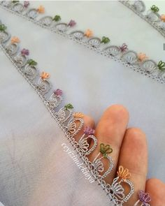 The Most Stylish New Needle Lace Models – Typical Miracle Bridal Bracelet, Silver Bangle Bracelets, Seed Bead Bracelets, Hand Embroidery Dress, Moda Emo, Crochet Bracelet, Braided Bracelets, Piercings, Silver Cuff