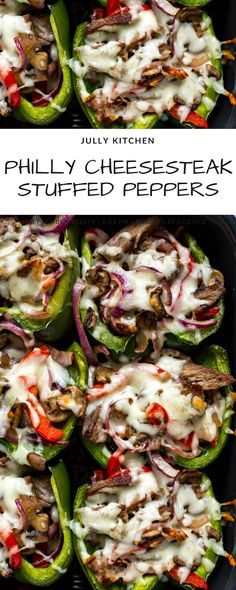 PHILLY CHEESESTEAK STUFFED PEPPERS | Jack Food Recipes