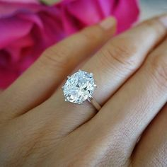 $200 4 ct Oval Solitaire Ring 8 Prong Ring Wedding by TigerGemstones