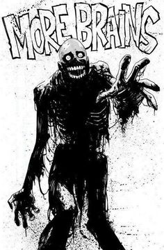 "hello-zombie: "" Return of the Living Dead's TARMAN by Mike Hawthorne for this week's Comic Twart! Zombie Kunst, Zombie Art, Dead Zombie, Zombie Cartoon, Zombie Pose, Zombie Disney, Zombie Movies, Tachisme, Bd Comics"