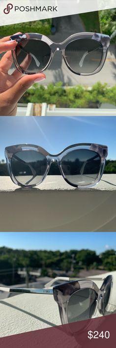 905d458337 FENDI  Greycry  Sunglasses - 100% Authentic - partial translucent frame ✨  Includes  FENDI 2017 sunglasses