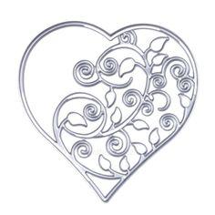 Music Heart Embossing Cutting Dies for Scrapbooking Decor Craft Card Making DSUK