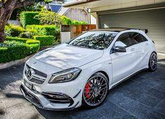 Mercedes AMG Shooting Brake High-end luxury sport cars Mercedes A45 Amg, Mercedes Benz Cars, Classe A Amg, Mercedes A Class, Mercedez Benz, Super Sport Cars, Super Car, Fancy Cars, Automobile
