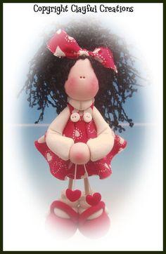 Becky's Polymer Clay  Vicki Valentine Calendar por clayfulcreations