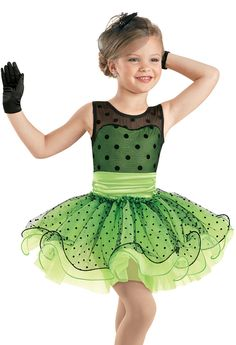 Weissman™ | Satin Dot Curly Hem Tutu Dress. Caterpillar Express