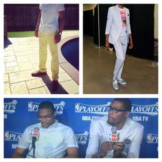 Kevin Durant and Russell Westbrook's post game ensemble. I rather fancy it @Robert Goris Goris Groce