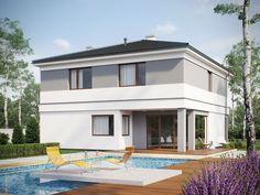 DOM.PL™ - Projekt domu SD Kartagina CE - DOM SD1-94 - gotowy koszt budowy Home Fashion, House Styles, Outdoor Decor, Home Decor, Home, House Design, Projects, Decoration Home, Room Decor